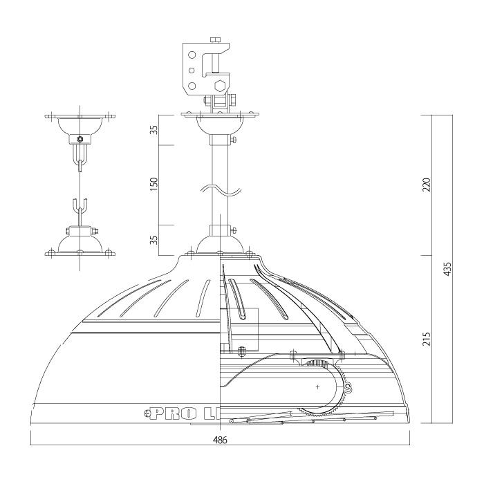 PJ150N-SG側面図